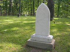 Nancy Lincoln's gravesite.