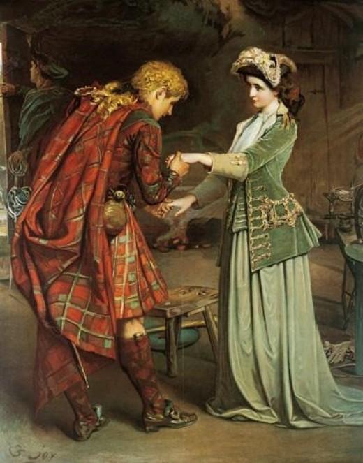 Flora MacDonald's Farewell to Bonnie Prince Charlie by George William Joy.
