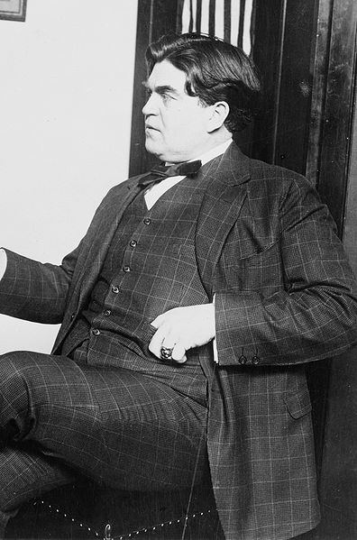 This photo of Lohn L. Lewis was taken at the time of a meeting with the U.S. Representative John I. Nolan, Chairman of the House Committee on Labor. Nolan was the first labor    leader from California who became a member of Congress.