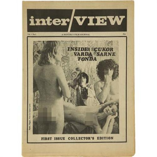 The first issue of Interview