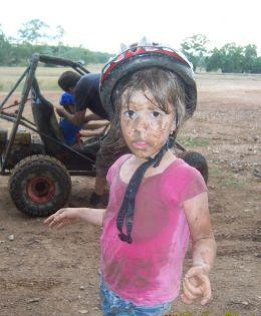 Kids, I've found, generally like the combination of speed, bumps, and mud.