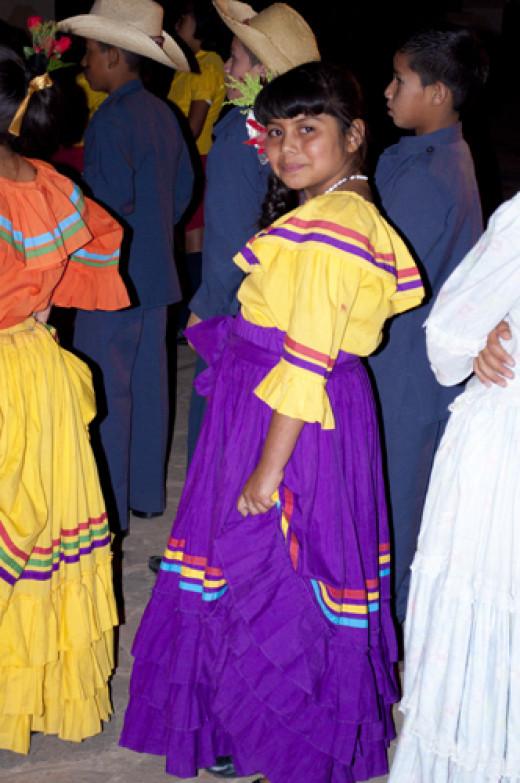 A little Coqueta in traditional costume, La Esperanza, Intibucá