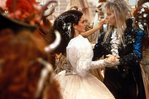 The ballroom scene, with Sarah & Jareth