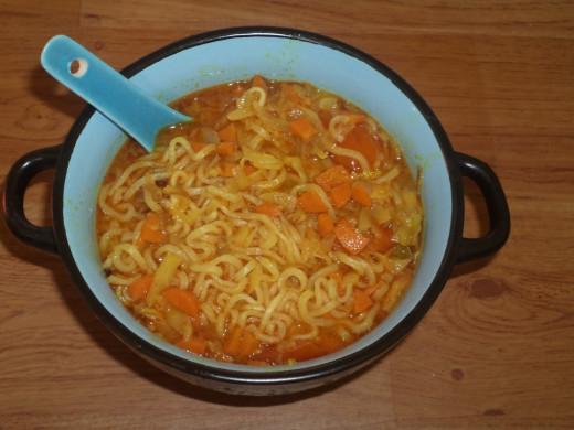 Vegetable Soupy Maggi Noodles