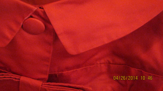Vintage red satin top