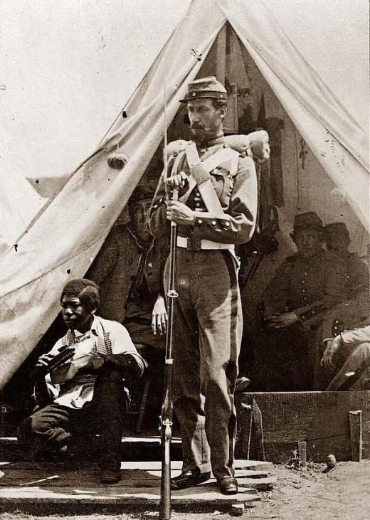 A New York militiaman with a servant
