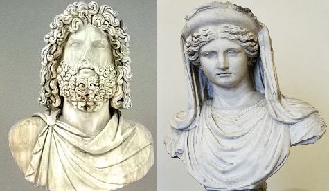 Persephone's father Zeus and mother Demeter