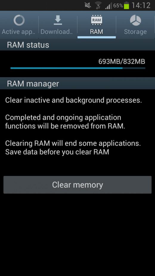 Clear RAM