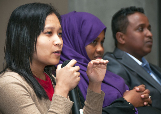 Participants in a Diversity Conference.