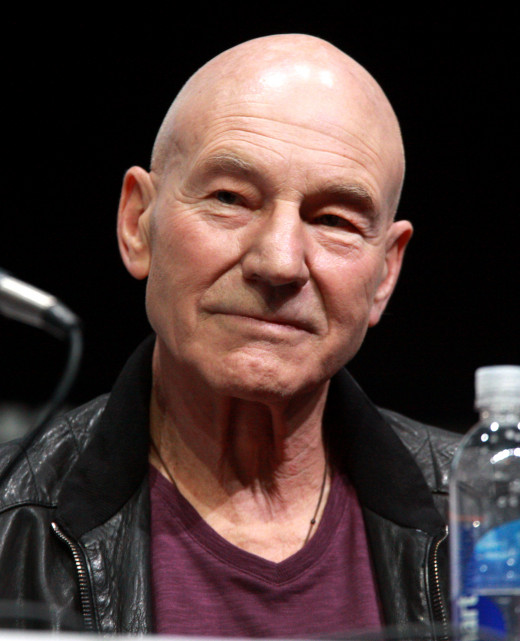 Sir Patrick Stewart as he appeared at a San Diego entertainment convention in 2013.