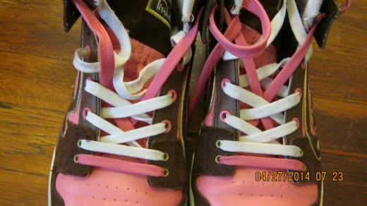 Pink and Brown Sneakers