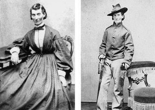 Female Union soldier disguised as a man