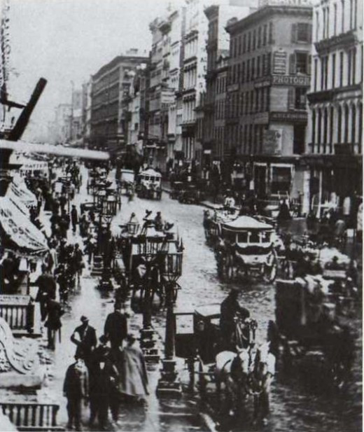 1860's City Of New York street and markets