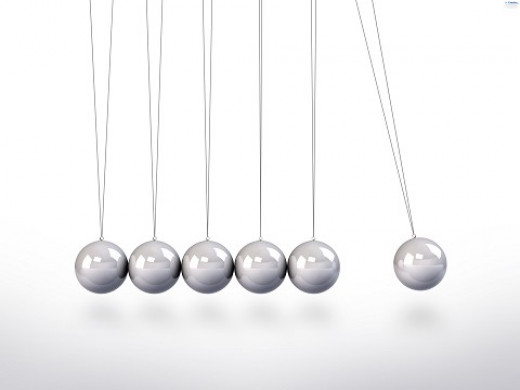 This pendulum represents the momentum of the relationship created by the initial force (initiative).
