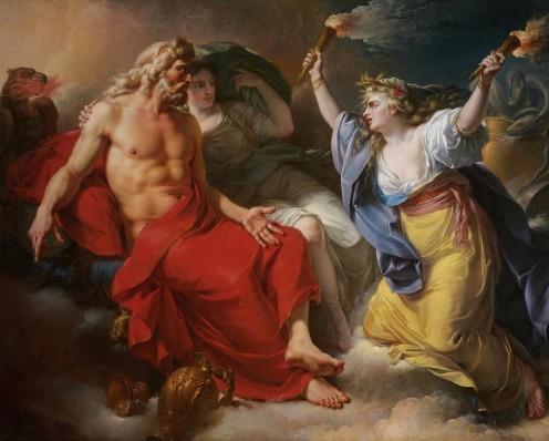 Demeter Confronts Zeus in Persephone's Abduction