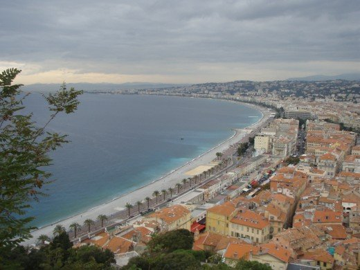 The endless beaches of Nice.