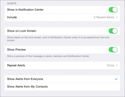 More options for dealing with app notifications