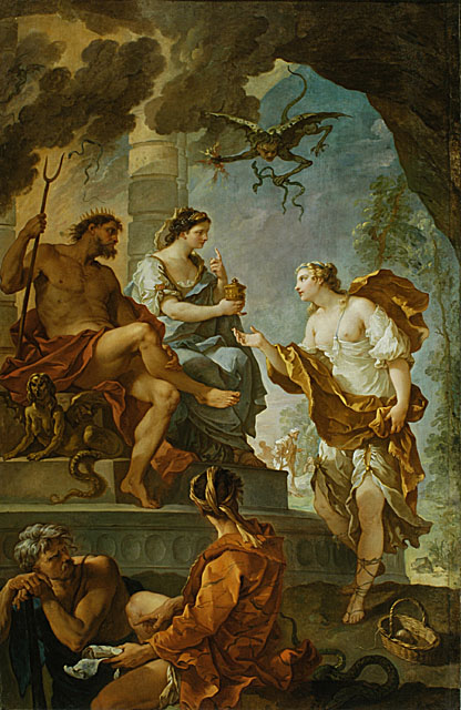 Psyche Visits Persephone in the Underworld