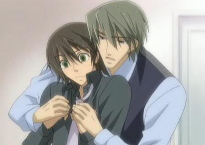 "Known as the ""Romantica"" couple of the series, Misaki and Akihiko are two of the main cast characters."