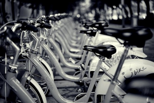 Bicycles parking for Taipei Subways