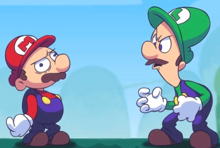 "An image from the official music video for  ""Luigi's Ballad"", the third song on the album."