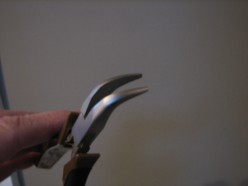 curved nose pliers with smooth flat grip