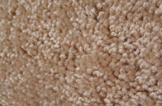 Cleaning a polyester carpet
