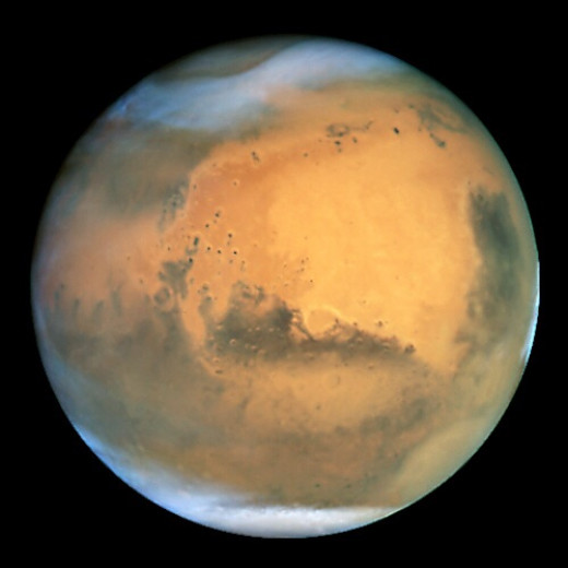 Mars, as viewed through the Hubble telescope