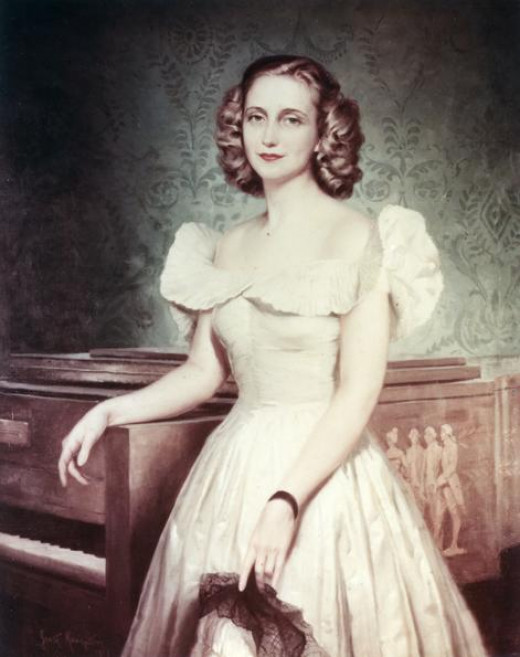 Margaret Truman in this official  government portrait. Probably in her early twenties.