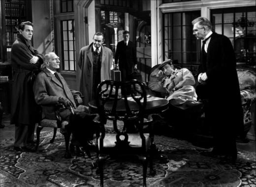 Louis Hayward, C. Aubrey Smith, Barry Fitzgerald, Richard Haydn, Mischa Auer & Walter Huston in the 1945 film based on Agatha Christie's mystery.