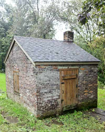 Old fashioned smokehouse