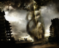 Tornados are so powerful that they can destroy an entire city.