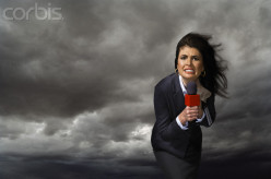Newswomen are brave to stand out and get stories of tornados.