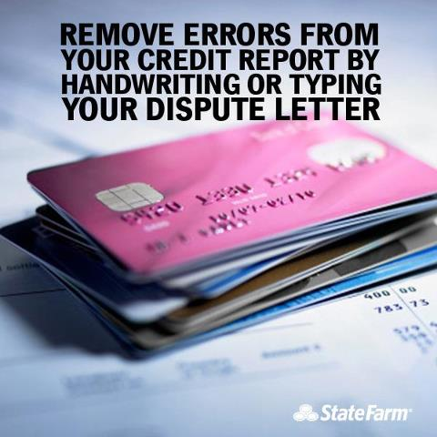 Courtesy of State Farm via Flickr CC 2.0 Some rights reserved. Dispute any misinformation on credit cards statements and on your credit report.