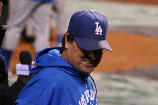 Rick Honeycutt was caught with a thumbtack on his hand. And he caught himself with it -- on the forehead.