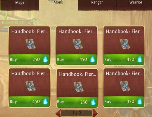 Purchasing t2 epic patterns in Order and Chaos.