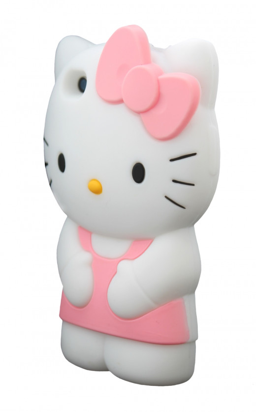 The Hello Kitty silicone iPhone case