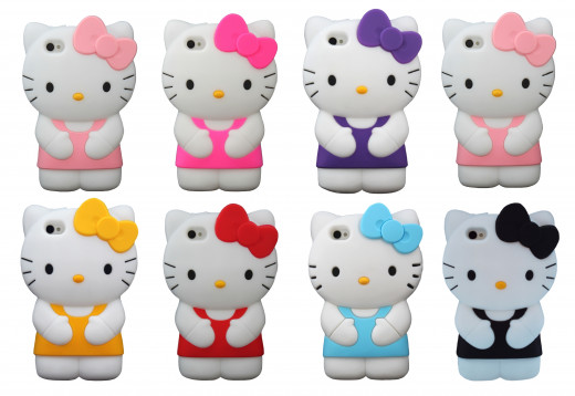 Hello Kitty silicone rubber iPhone cases