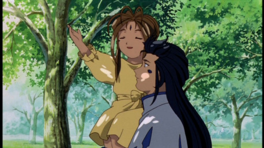 A young Belldandy with her mentor.