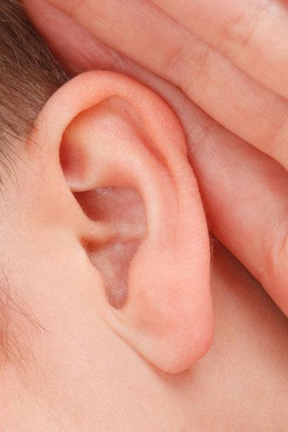 A man's ear by Vera Kratochvil