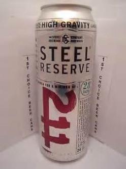 211 High Gravity Malt Liquor. 211 is police code for robbery