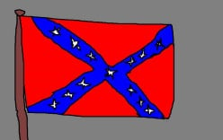 A Confederate flag. The USA had some wounds to attend to after the American Civil War.