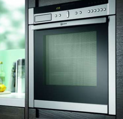 A modern wall built-in oven