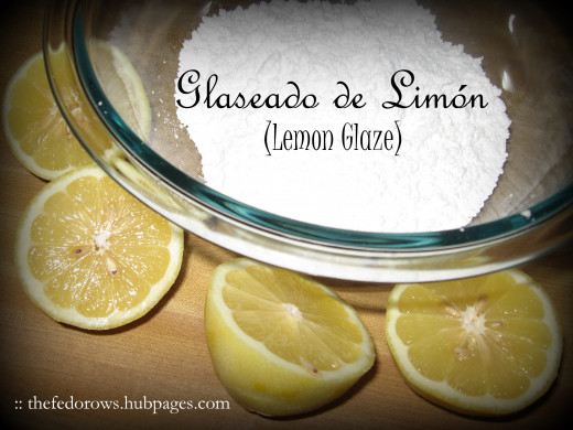 6. Gather the two lemons you zested and powdered sugar to make the glaze.