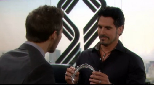 Bill explains to Liam that he bought Katie a tiara to match the other jewelry he bought her when he messed up.  Bill is certain Katie will forgive him.