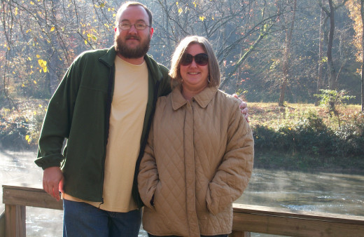 Me and the wife at the Toccoa River