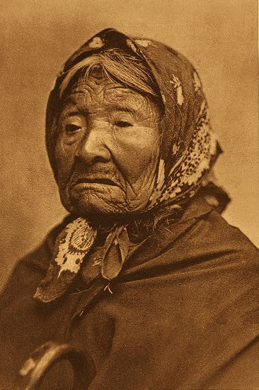 Princess Angeline in an 1896 photogravure by Edward Sheriff Curtis