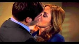 Frankie and Maura Kissing