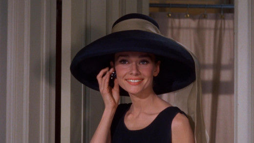 "Audrey Hepburn in a scene for ""Breakfast at Tiffany's""."
