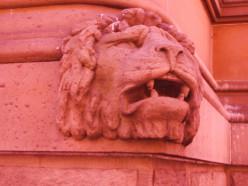 A close up of a Sydney lion.